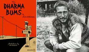 The original Dharma Bums cover, and Gary Snyder, the inspiration of main character Japhy Ryder, circa 1956