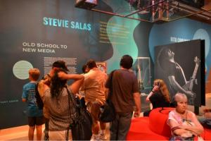 Stevie Salas exhibit in the Smithsonian Institution