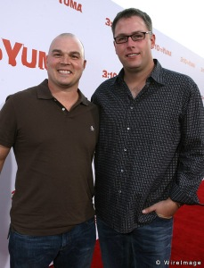 Derek Haas (left) and co-writer Michael Brandt