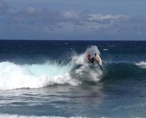 "Surf star Clay Marzo, the subject of ""Just Add Water"", tearing it up in Maui."