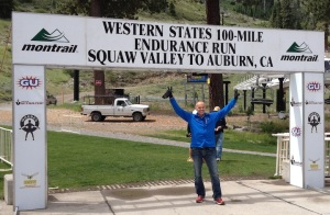 Dave Nichols stands at the starting line, all smiles. How would he feel 100 miles later?