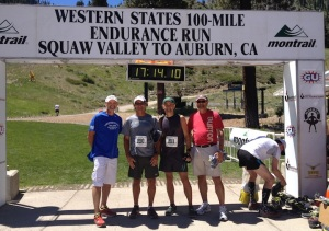 Our cast of characters after the Montrail 6K climb up Squaw Valley, which Craig and I ran.