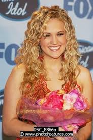 Carrie Underwood, moments after winning American Idol Season 5 in 2005